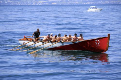 Entrainement Rame traditionelle- Anne de Noailles - Amphion-Fête du sauvetage