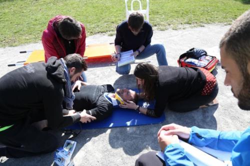 Exercices de soins au parc du miroir - 2018