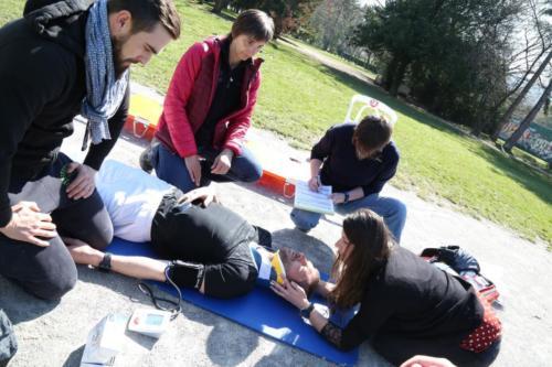 Exercices de soins au parc du miroir - Section-Amphion 2018